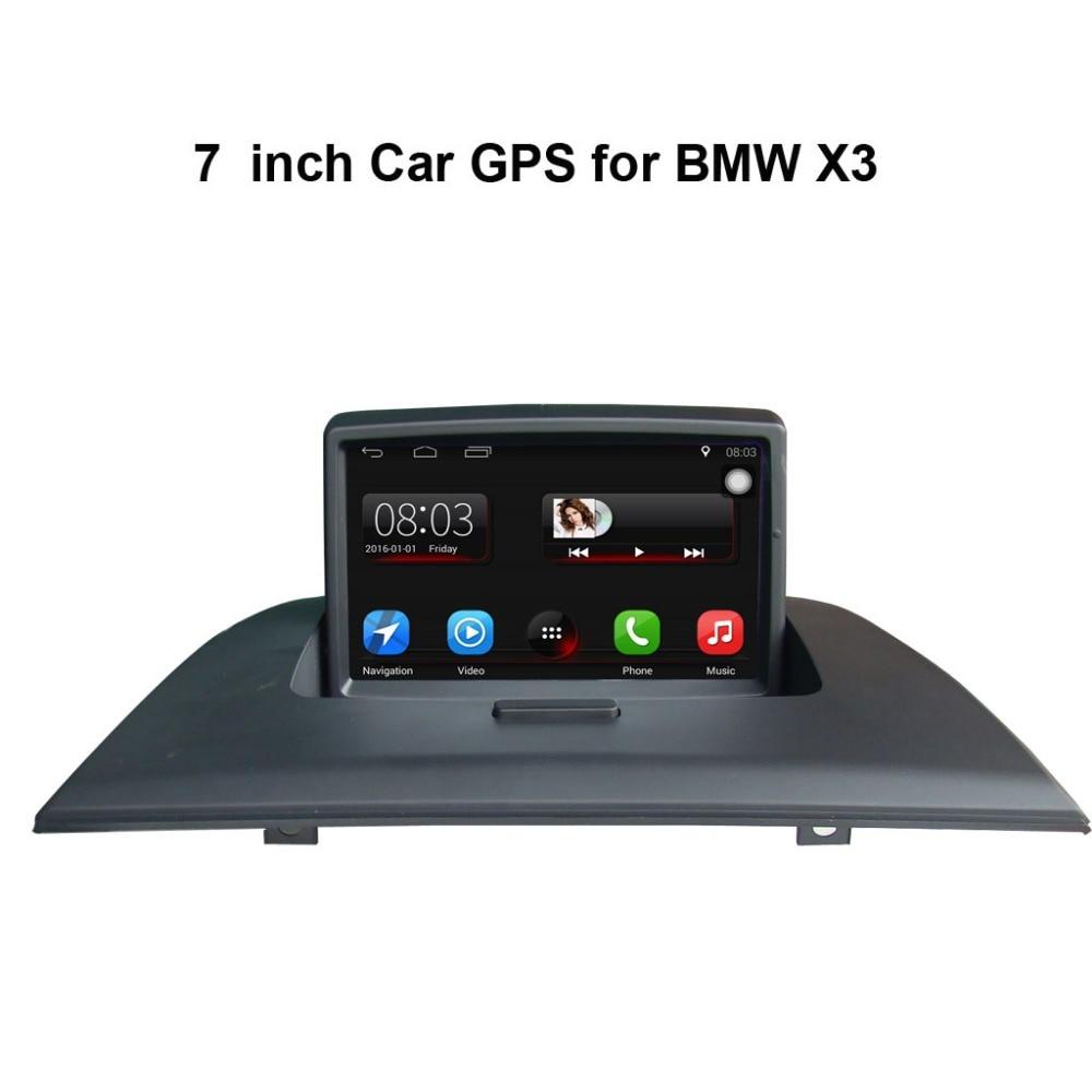 7 дюймовый Android 7,1 автомобилей gps навигации для BMW X3 E83 2004 2009 автомагнитолы видео плеер Поддержка Wi Fi Bluetooth