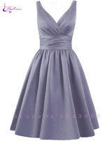 Waulizane Elegant Satin A Line Prom Dresses Lace Up Sleeveless Formal Dresses 16 Colors Available Customs