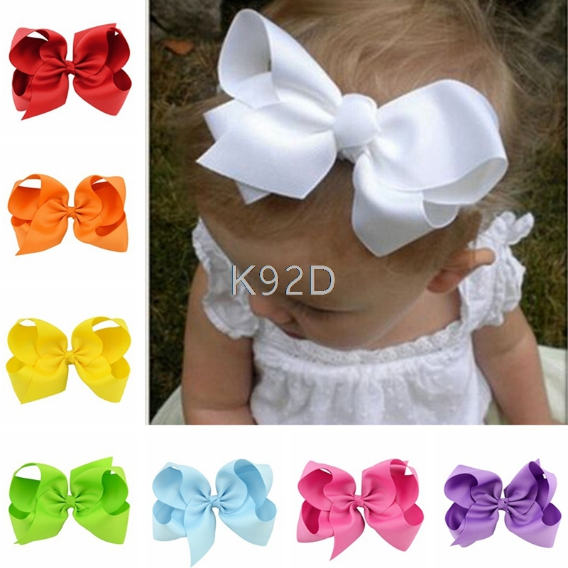 Baby Big Hair Bows Boutique Girls Alligator Clip Grosgrain Ribbon Lovely 10PCS/SET N06 ...