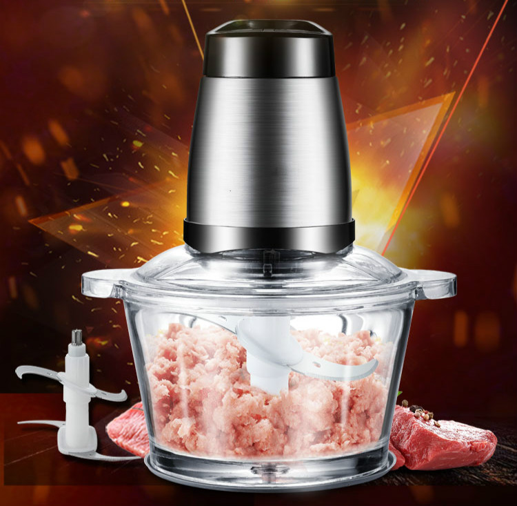 Coffee machine meat grinder USES electric stainless steel stuffing to whip and stir garlic cloves