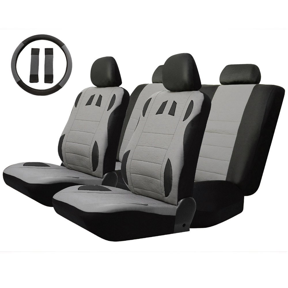 Universal Low-back Car Seat Cover Set Four Seasons Auto Cushion Interior Accessories 11pcs Comfortable Breathable to Keep Cool auto back seat organizer bags assorted