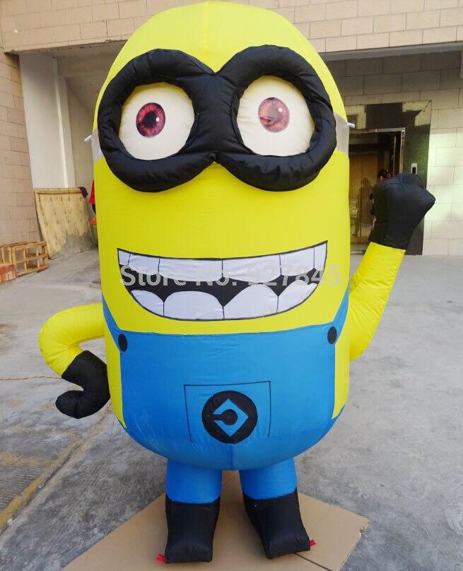 1 pc 2.5 m de Bande Dessinée caractère petit homme jaune gonflable modèle Publicité Figure Despicable Me Publicité Gonflable Minions