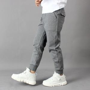 Image 3 - IIMADFWIW Çocuk Pantolon 2019 Ilkbahar Sonbahar Yeni Erkek spor pantolon Öğrenciler Pamuk Gevşek Rahat Renk Gri/Siyah/Kahverengi