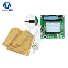 MG328-Medidor de condensador Inductor, módulo de Panel de pantalla LCD multifunción para transistores con Cable, carcasa de acrílico