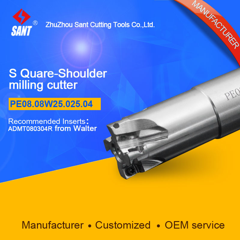 Popular CNC lathe machining center indexable square shoulder milling cutter tools holder with high precision PE08.08W25.025.04 cnc machining and fabrication with efficiency quality and precision in 2015 432