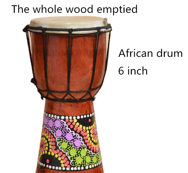 djembe drummer percussion 6 inch or 4 inch classic painting wooden african style hand drum for. Black Bedroom Furniture Sets. Home Design Ideas