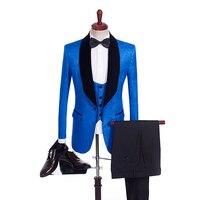 2019 печатных Smart Повседневные комплекты одежды смокинги 2 Цвет костюм друга жениха индивидуальный заказ человек костюм 3 PSC свадебная одежда