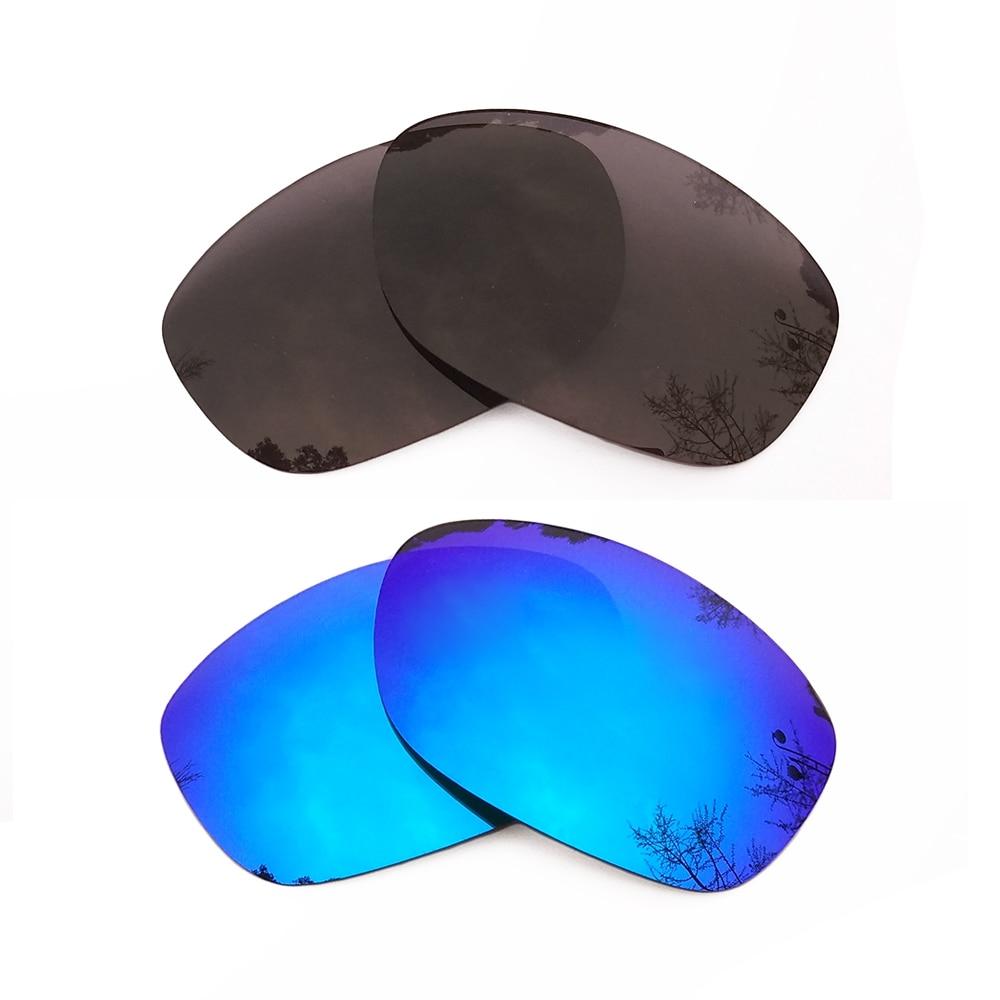 Черный и голубой лед зеркальные Поляризованные замены линзы для Pit Bull кадра 100% UVA и UVB