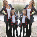 Autumn Long Sleeve Family Outfits Clothing Mother Daughter Cardigan Sweater Outwear Jacket Fasion