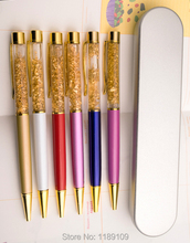 Stationery Metal Gold Foil Ballpoint Pen Luxury Golden School Supplies Office Accessories Oily Refill 0.7