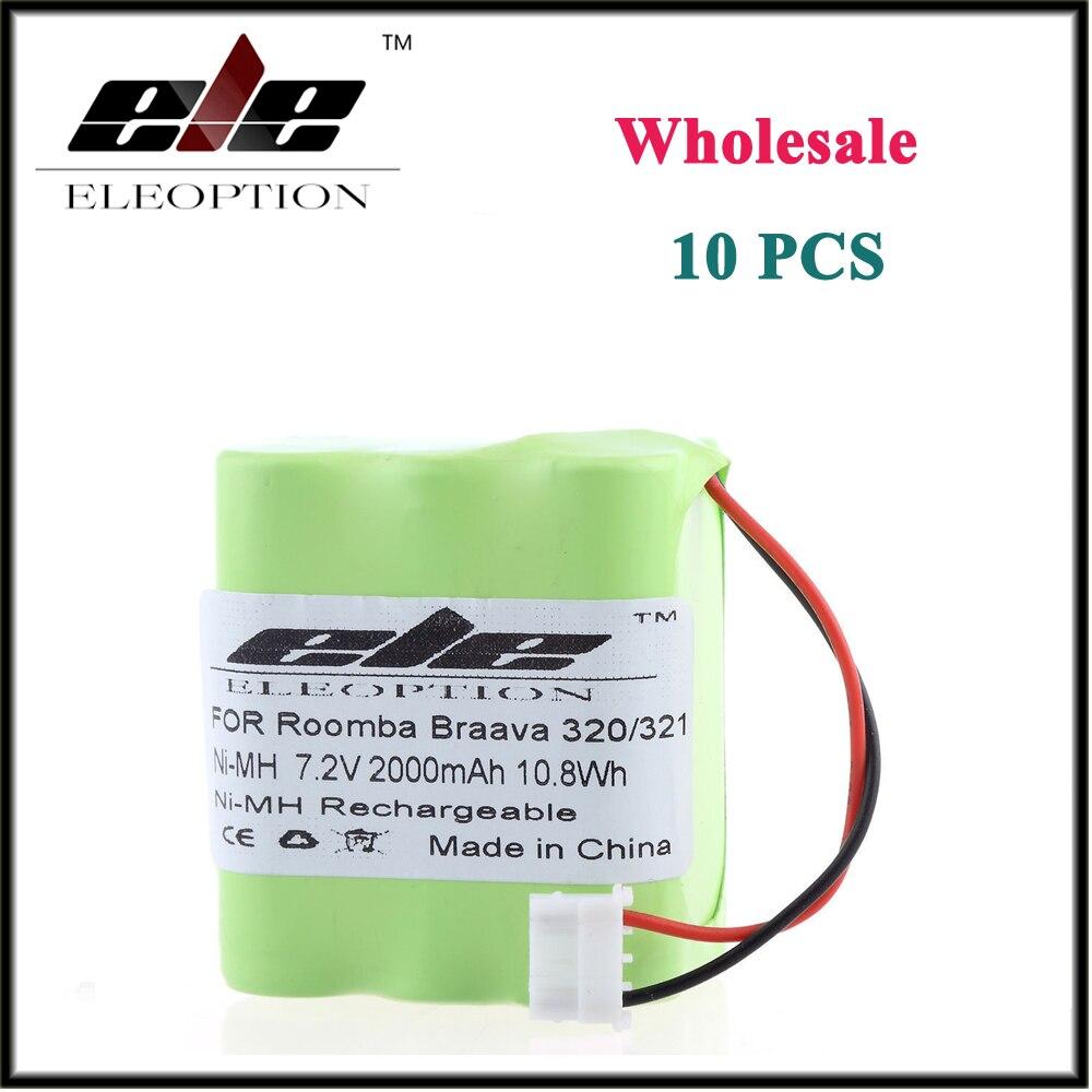 10 шт. оптовая продажа ELEOPTION 2000 мАч Батарея для iRobot Braava 320 <font><b>321</b></font> и мяты 4200 4205 робот-пылесос 4408927