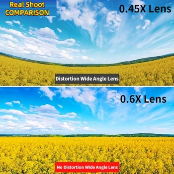 Orsda 4K HD Super 15X Macro Lens for Smartphone Anti-Distortion 0.6X Wide Angle Lens Optical Glass Mobile Phone Camera Lente Kit 1