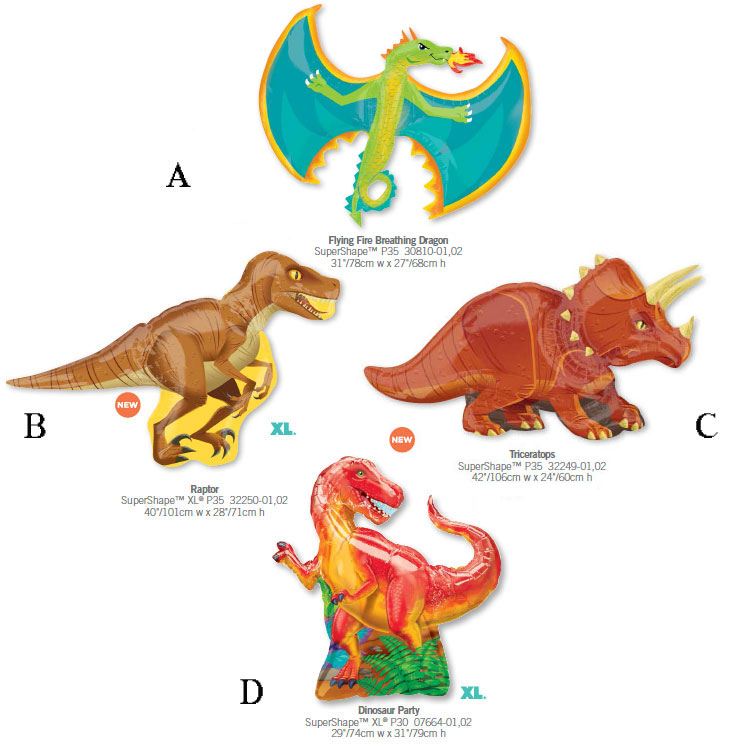 1pcs/lot Anagram Dinosaur Party Cartoon Balloon Supershape Toy Raptor Birthday B