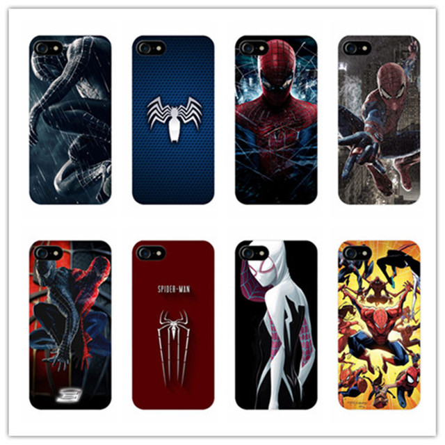 new concept 39920 5f6fc US $2.6 |American super hero Spiderman Cover Case For iPhone 6 6S plus 7  Plus 7 5 5S For Samsung Galaxy S6 edge S7 edge S5 s4 phone cases on ...