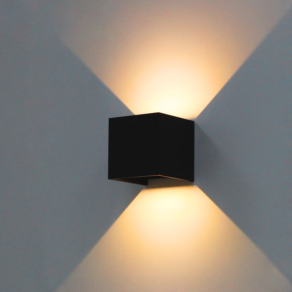 Modern adjustable up down light wall lamp outdoor waterproof led modern adjustable up down light wall lamp outdoor waterproof led wall light creative cob aluminum sconce garden lighting fixture in led indoor wall lamps aloadofball Image collections