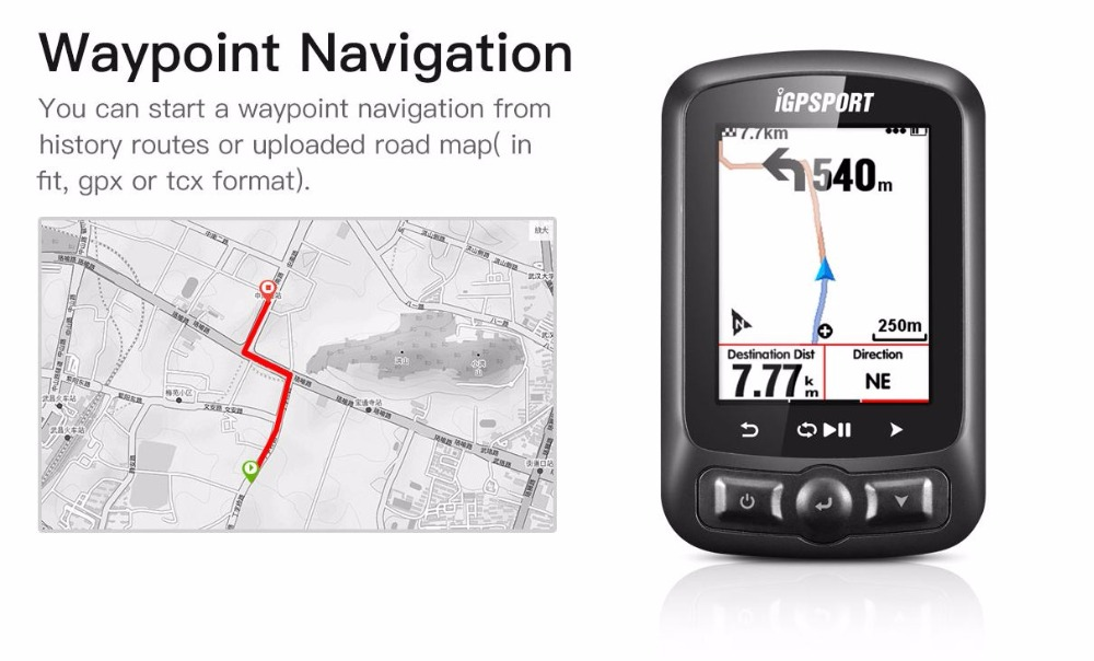 Nuovo IGPSPORT ANT + GPS IGS618 Bici Senza Fili di Bluetooth Cronometro Tachimetro Impermeabile IPX7 di Riciclaggio Della Bicicletta Del Tachimetro Computer