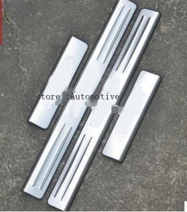 stainless steel scuff plate door sill covers for BMW X5 E70 X6 E71 2010 2011 2014 2015 car styling auto accessories