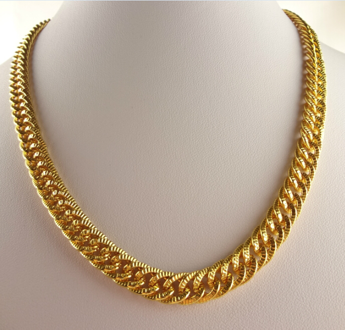 Hip hop goldkette  Mens 18 K Gold überzogene Weinlese -Ägypten-Charme-Halskette ...