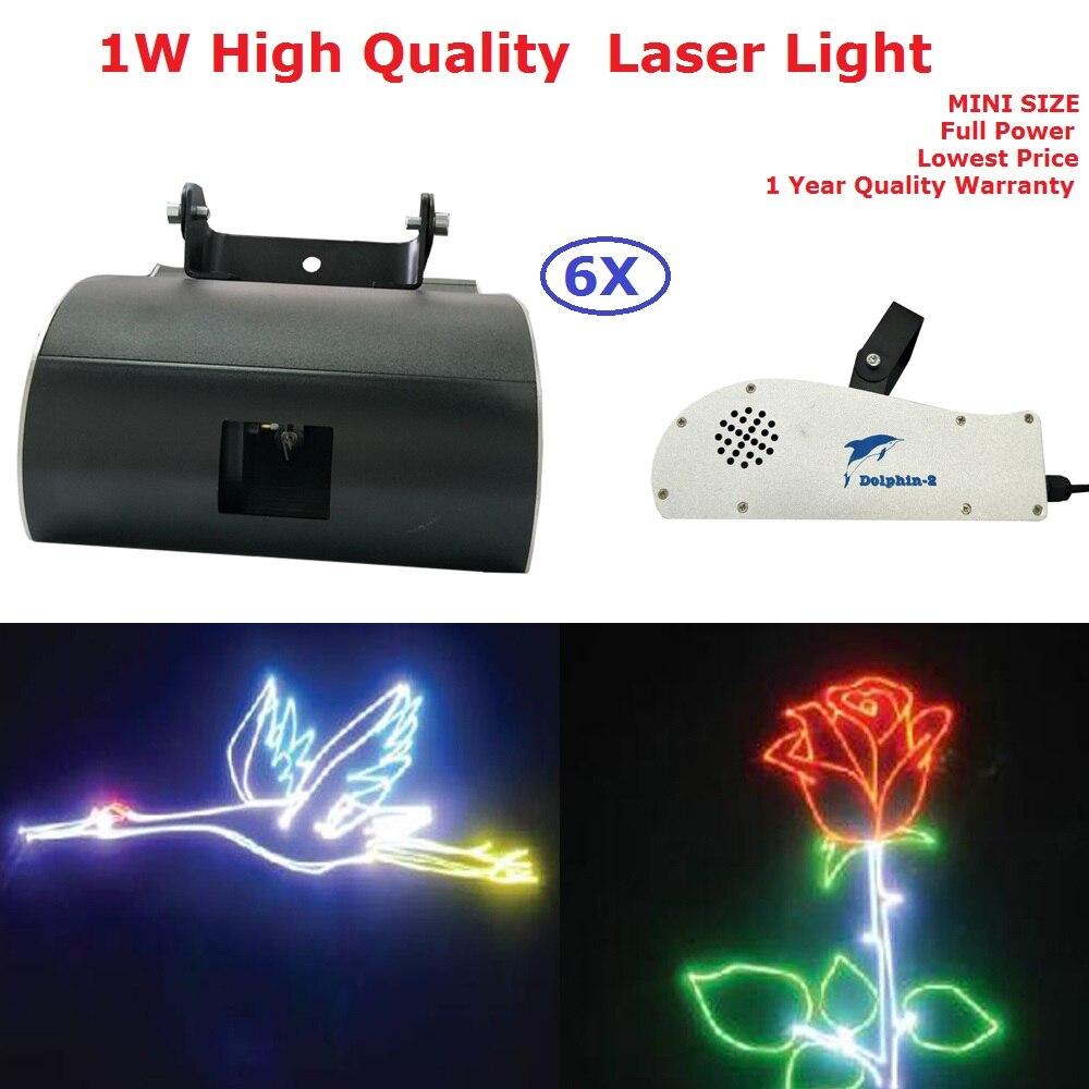 6ks / hodně nejnovějších delfínových jevišťových světel 1 W RGB plně barevné animace laserových světel s DMX512 pro profesionální jevištní DJ disco světla
