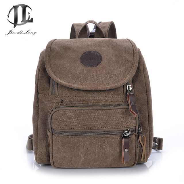 fashion Canvas Multi-function Women Small Travel Backpack School Bags Ladies Crossbody Shoulder Bag Chest Back Pack Rucksack