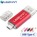 LEIZHAN Type-C 3.1 OTG Pendrive 64GB Metal USB Flash Drive 64GB High Speed USB 3.0 Pendrive Micro USB for smart Phones USB Stick
