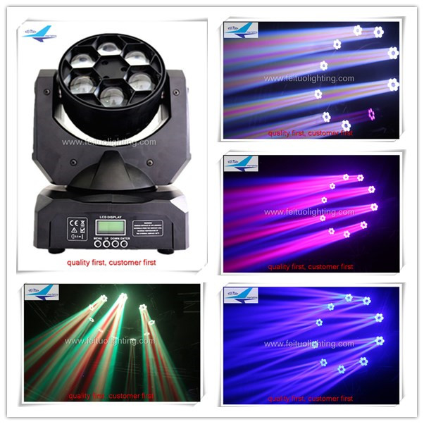 T-4 x clay paky bee eye 6X15w moving head 4 in 1 RGBW Emitting Color strobe headlight with flight case