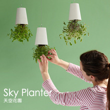 Sky Planter Garden Upside Down Type Air Flower Pot Plastic Hanging Pots