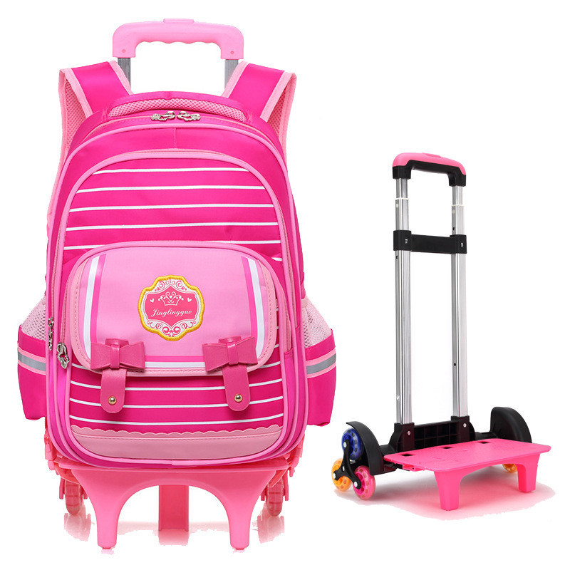 Children Trolley Backpack School Bags For Grils Boys Wheeled Bag Students Removable Nylon Backpacks for teenagers Mochila children school bag minecraft cartoon backpack pupils printing school bags hot game backpacks for boys and girls mochila escolar