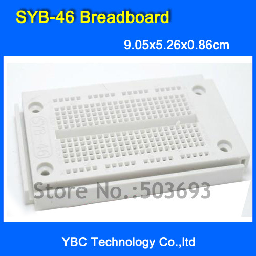 Lower Price with Free Shipping 10pcs/lot Syb-46 Pcb Bread Board 9.05cm*5.26cm*0.86cm Syb 46 Test Diy Passive Components Rigid Pcb