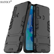 Huawei Nova 5i Case Silicone Rubber Robot Armor Shell Hard PC TPU Back Phone Cover for