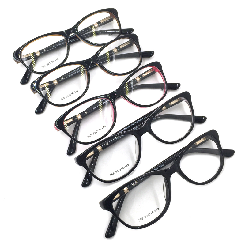 1d77ab325 Laura Fairy High Quality Women Frame Glasses Retro Cateye Shape Patchwork  Prescription Eyewear Glasses Frames-in Eyewear Frames from Women's Clothing  & ...