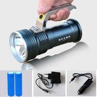 500 M 8000 Lumens Holofote LEVOU Lanterna Cree R5 LED À Prova D' Água de Longo alcance Portátil Recarregável de Acampamento de Pesca luz LED