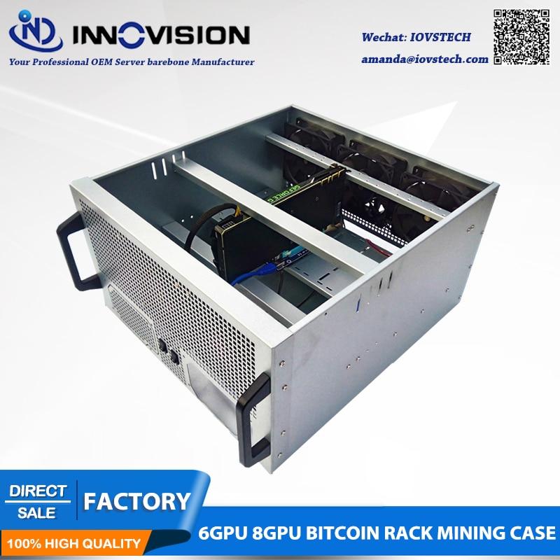 Hotsale 6GPU 8GPU bitcoin rack Mining Case Stock
