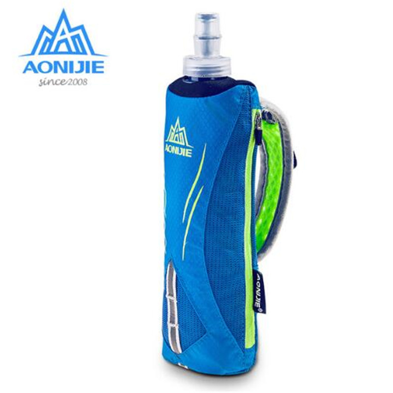 AONIJIE Waterpoof Hand-held Kettle Pack Marathon Outdoor Sport Running Phone Bag For 5.5 inch Phone 500mL Soft Water Flask
