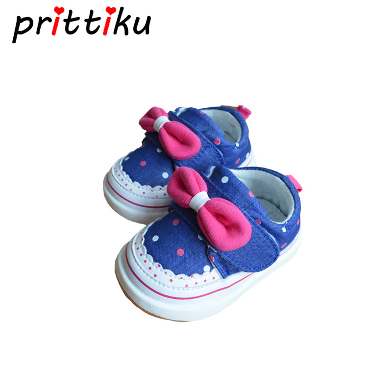 Cute Newborn Baby Girls Cotton Canvas Summer Pre Walker Shoes