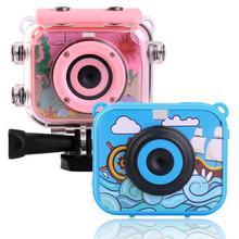 цена на Mini Children Kids Video Action Camera 2.0'' LCD 12MP HD 1080P Sport Camera 30M Waterproof Outdoor Sports DV Bike Helmet Camera