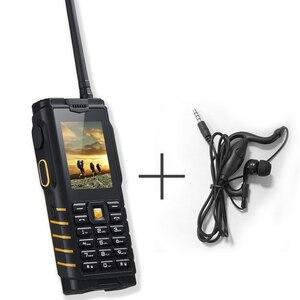 Image 5 - Ioutdoor T2 IP68 Su Geçirmez Sağlam interkom Telsiz Cep Telefonu Güçlü Sinyal El Feneri Uzun Bekleme Güç Banka P010