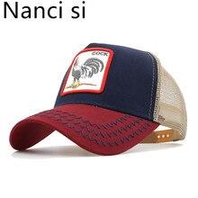 Nanci si los animales bordado gorra de béisbol de las mujeres de los  hombres de Snapback gorra sombreros de malla transpirable s. dd08dd8dcd2