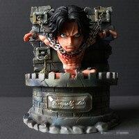 Japanese Anime Figurine One Piece Portgas D Ace GK Ace Prisoner Figure One Piece Action Figure PVC Collectible
