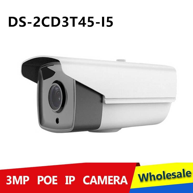 2015 Multi language 4MP DS 2CD3T45 I5 IR Bullet Camera with IR Range 50m H265 IP