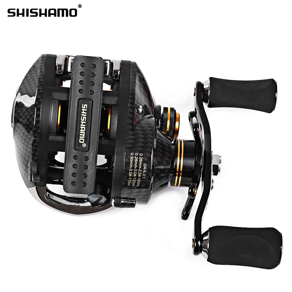 Fishing Reels: Shishamo LB200 Fishing Reel Left Right Hand Fishing Bait Casting Reel With One Way Clutch Durable Baitcaster Coil Fishing Reel