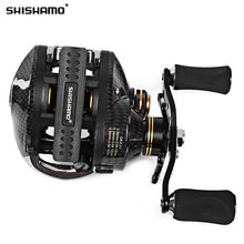Shishamo LB200 Fishing Reel Left Right Hand Fishing Bait Casting Reel With One Way Clutch Durable Baitcaster Coil Fishing Reel