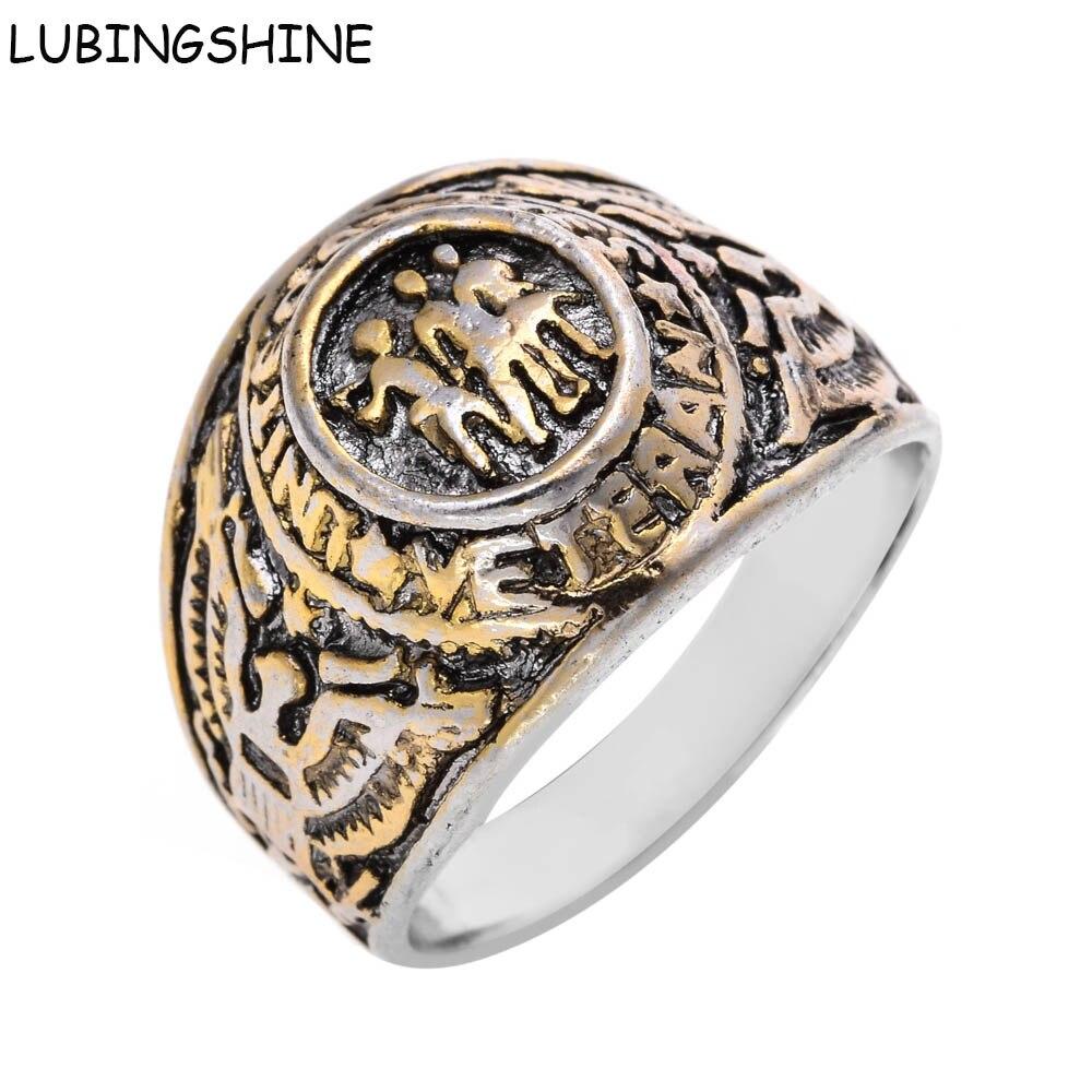 Lubingshine Men Biker's Jewelry United States Eagle Man Ring Vintage  Antique Memorial Rings Anel Masculino Bagues