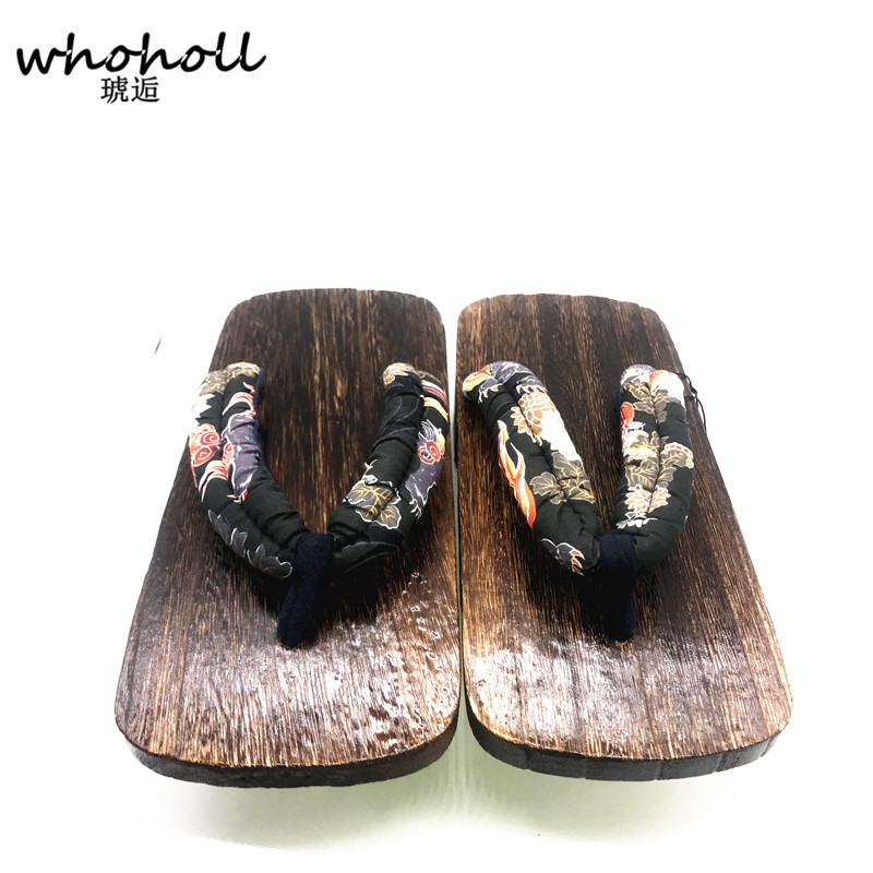 9c6b48b011f WHOHOLL Geta Summer Sandals Man Flip flops Two toothed Platofrm Japanese  Wooden Clogs Shoes Men Indoor Sandals Plus Size 34 47-in Men s Sandals from  Shoes ...
