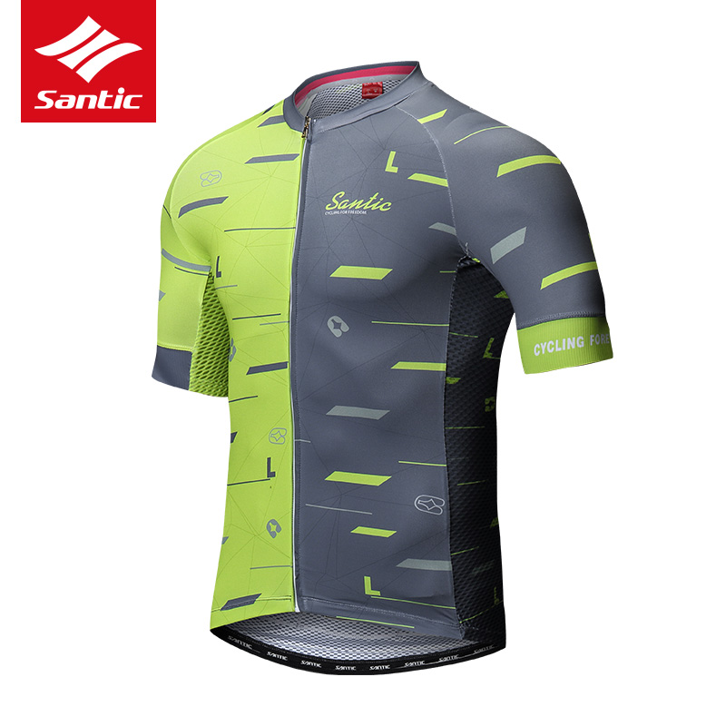 Santic Cycling Jersey 2019 Pro Team Men MTB Road Bike Jersey Breathable Anti sweat Bicycle Jersey