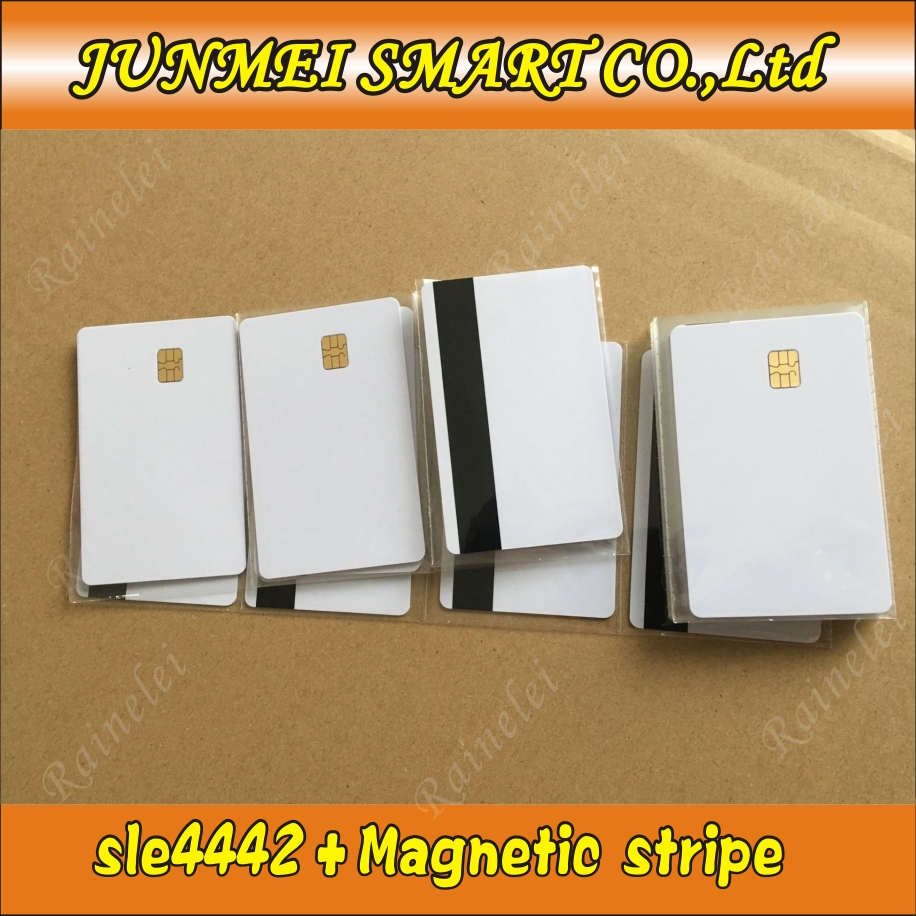 Strip Smart-Card ISO7816 Blank Magnetic Card10pcs Sle4428 With HICO Secure FM4442 SLE5542