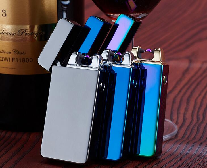 1pcs 2016 novelty smoking Lighter Pulsed Arc Slim Windproof arc lighter Personality font b Electronics b