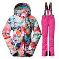 Alta Q-30 Grados Mujeres Traje De Esquí de Invierno Trajes de Snowboard Chaquetas De Esquí A Prueba de Viento Impermeable térmica Femenina caliente Breathbale pantalones