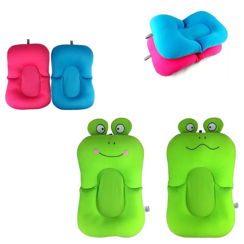 Foldable Baby Bathing Mat Bath Wipe Tub Kids Shower Net Bed Newborn Baby Bath Seat Soft Cushion Infant Bath Bathtub Support