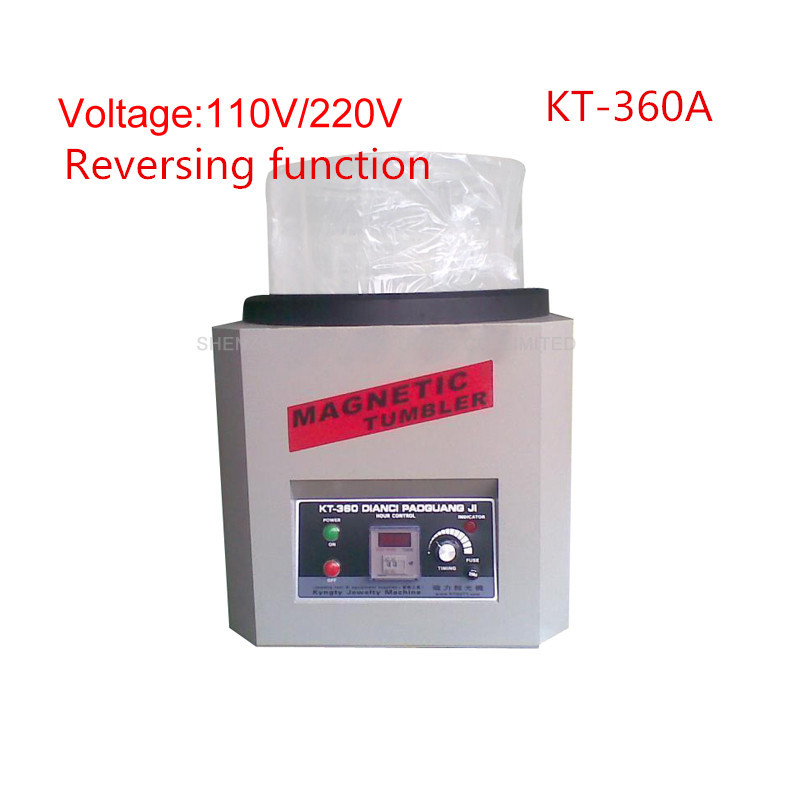 Reversing Magnetic Tumbler KT-360A 110V/220V Jewelry Polishing Machine Goldsmith Tools Capacity 1300g